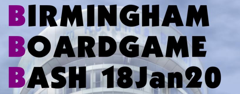 Birmingham Boardgame Bash Jan 20